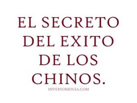 El secreto del éxito de los chinos